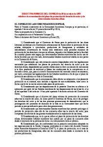 CONSEJO DE LAS COMUNIDADES EUROPEAS,