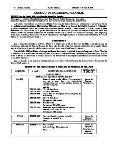 CONSEJO DE SALUBRIDAD GENERAL