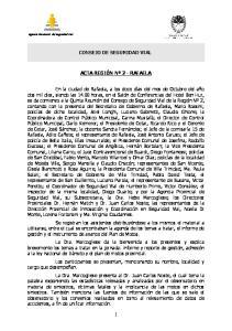 CONSEJO DE SEGURIDAD VIAL ACTA REGIÓN Nº 2 - RAFAELA