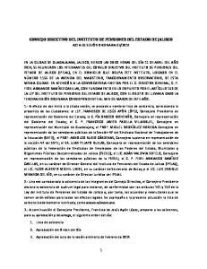 CONSEJO DIRECTIVO DEL INSTITUTO DE PENSIONES DEL ESTADO DE JALISCO