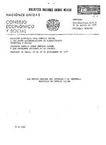 CONSEJO ECONO ICO Y SOCIAL