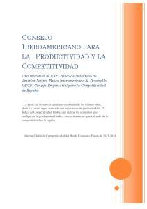 CONSEJO IBEROAMERICANO PARA COMPETITIVIDAD LA PRODUCTIVIDAD Y LA