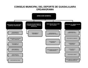 CONSEJO MUNICIPAL DEL DEPORTE DE GUADALAJARA ORGANIGRAMA