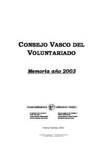 CONSEJO VASCO DEL VOLUNTARIADO