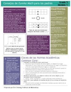Consejos de Eureka Math para los padres