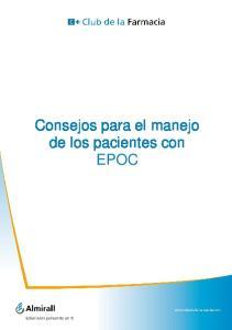 Consejos para el manejo de los pacientes con EPOC