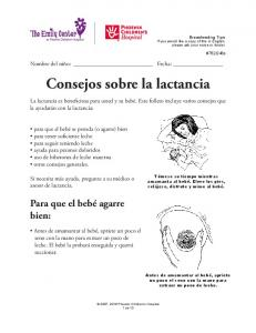 Consejos sobre la lactancia