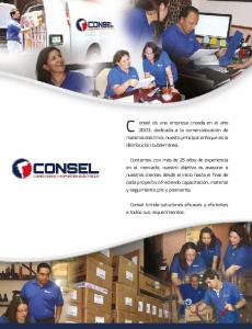 Consel brinda soluciones eicaces y eicientes a todos sus requerimientos