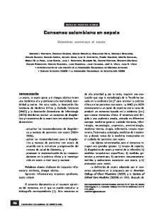 Consenso colombiano en sepsis
