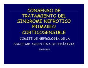 CONSENSO DE TRATAMIENTO DEL PRIMARIO CORTICOSENSIBLE