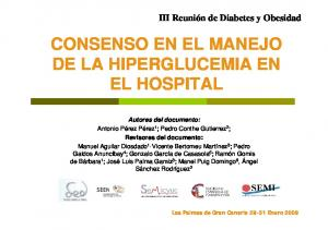 CONSENSO EN EL MANEJO DE LA HIPERGLUCEMIA EN EL HOSPITAL