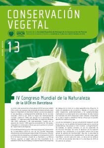 conservación vegetal