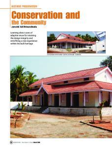 Conservation and. the Community HISTORIC PRESERVATION. Jamshid Adi Bhiwandiwalla