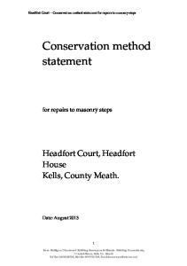 Conservation method statement