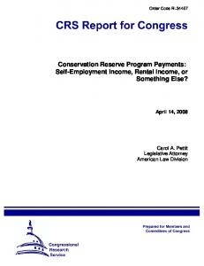 Conservation Reserve Program Payments: Self-Employment Income, Rental Income, or Something Else?