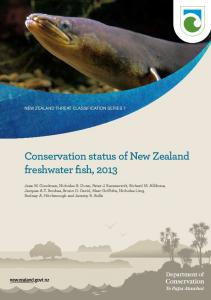 Conservation status of New Zealand freshwater fish, 2013