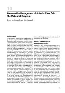 Conservative Management of Anterior Knee Pain: The McConnell Program