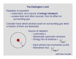 Consider force which photons exert on surrounding gas when a fraction of them are absorbed: