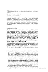 Consideraciones ambientales sobre el proceso penal
