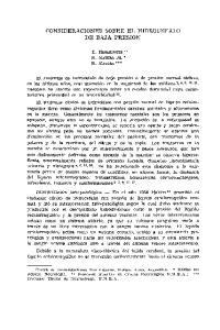 CONSIDERACIONES SOBRE EL HIDROCEFALO DE BAJA PRESION