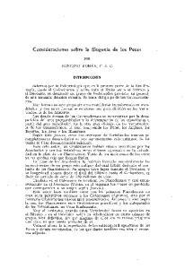 Consideraciones sobre la filogenia de los Peces
