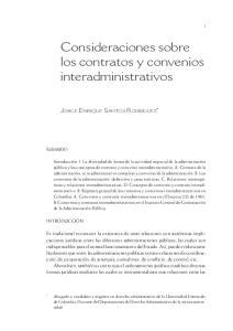 Consideraciones sobre los contratos y convenios interadministrativos
