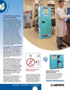 Considerations when selecting an acid storage cabinet