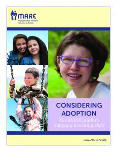 CONSIDERING ADOPTION The MARE guide to adopting a waiting child