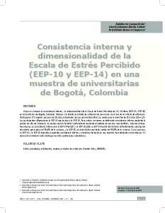 Consistencia interna y dimensionalidad de la Escala de Estrés Percibido (EEP-10 y EEP-14) en una muestra de universitarias de Bogotá, Colombia