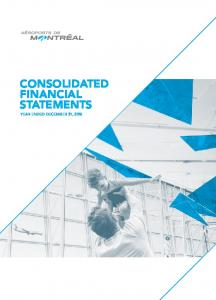 consolidated financial statements Year ended December 31, 2015