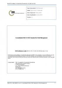 Consolidated RSB EU RED Standard for Risk Management