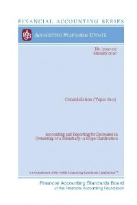 Consolidation (Topic 810)