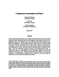 Conspicuous Consumption and Race