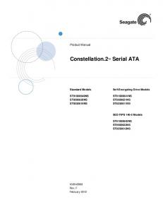 Constellation.2 TM Serial ATA