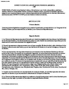 CONSTITUCION DE LOS ESTADOS UNIDOS DE AMERICA 1787