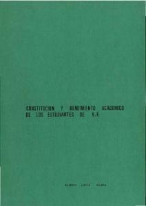 CONSTITUCION Y RENDIMIENTO ACADEMICO DE los ESTUDIANTES DE E. F
