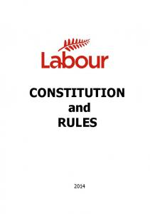 CONSTITUTION and RULES
