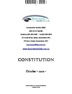 CONSTITUTION CONSTITUTION