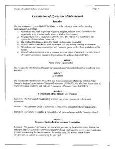 Constitution of Hyattsville Middle School