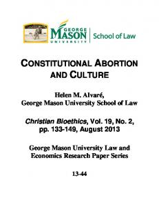 CONSTITUTIONAL ABORTION