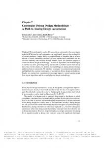 Constraint-Driven Design Methodology A Path to Analog Design Automation
