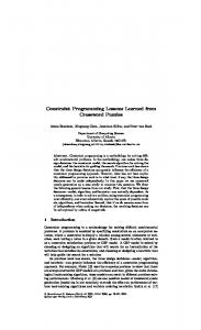 Constraint Programming Lessons Learned from Crossword Puzzles