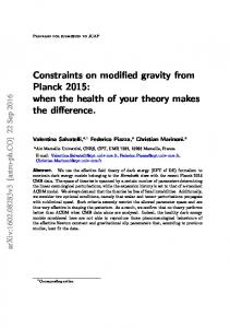 Constraints on modified gravity from Planck 2015: when the health of your theory makes the difference