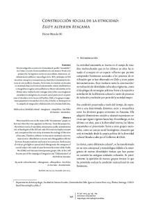 Construcción social de la etnicidad: Ego y alter en Atacama