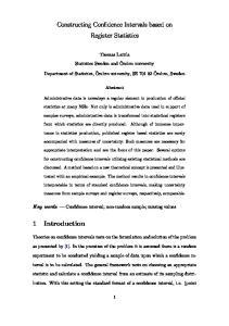Constructing Confidence Intervals based on Register Statistics