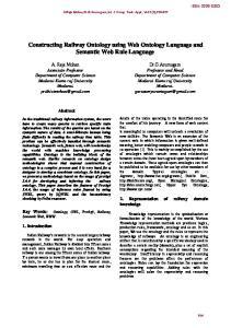 Constructing Railway Ontology using Web Ontology Language and Semantic Web Rule Language