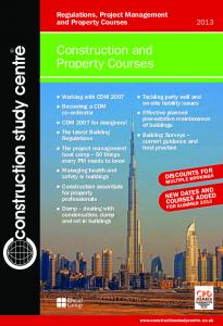 Construction and Property Courses