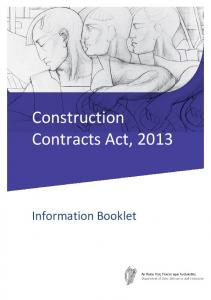 Construction Contracts Act, 2013