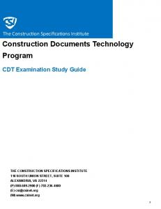 Construction Documents Technology Program