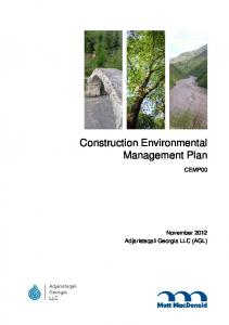 Construction Environmental Management Plan